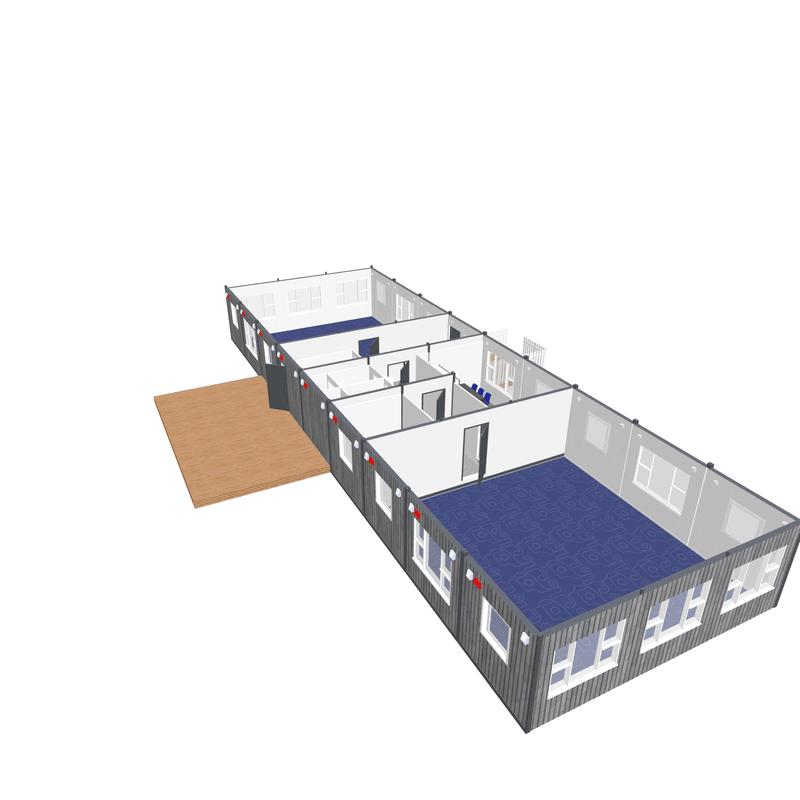 Skola 2 klassrum - projekt Contma
