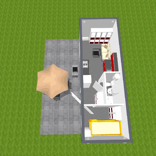 Projekt wyposażonego modułu hotelowego lub gościnnego