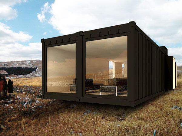 Domek mieszkalny z kontenera