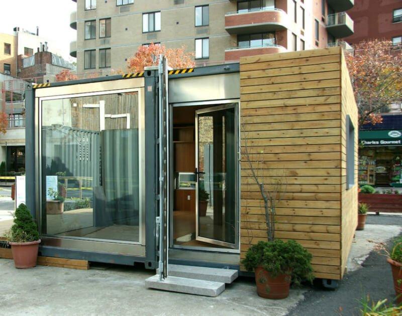 Biuro lub mini mieszkanie z kontenera