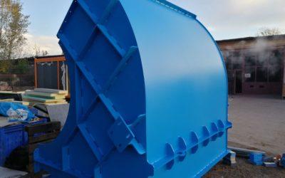 Lakierowanie turbiny/wentylatora dla firmy Elektror