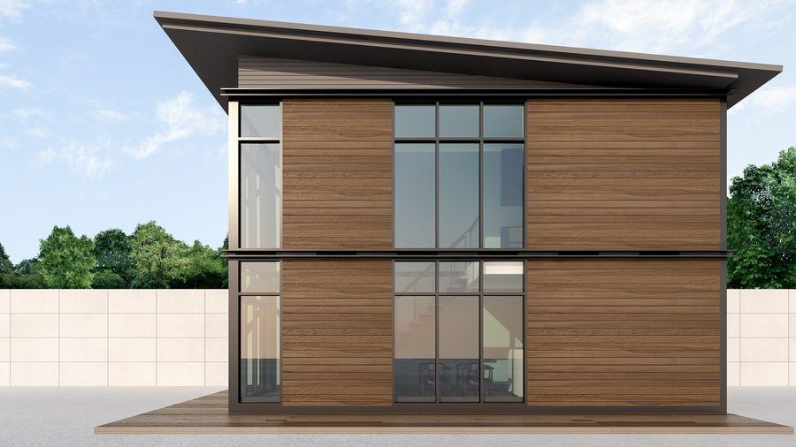 Prosty przykład domu modułowego łatwego w budowie