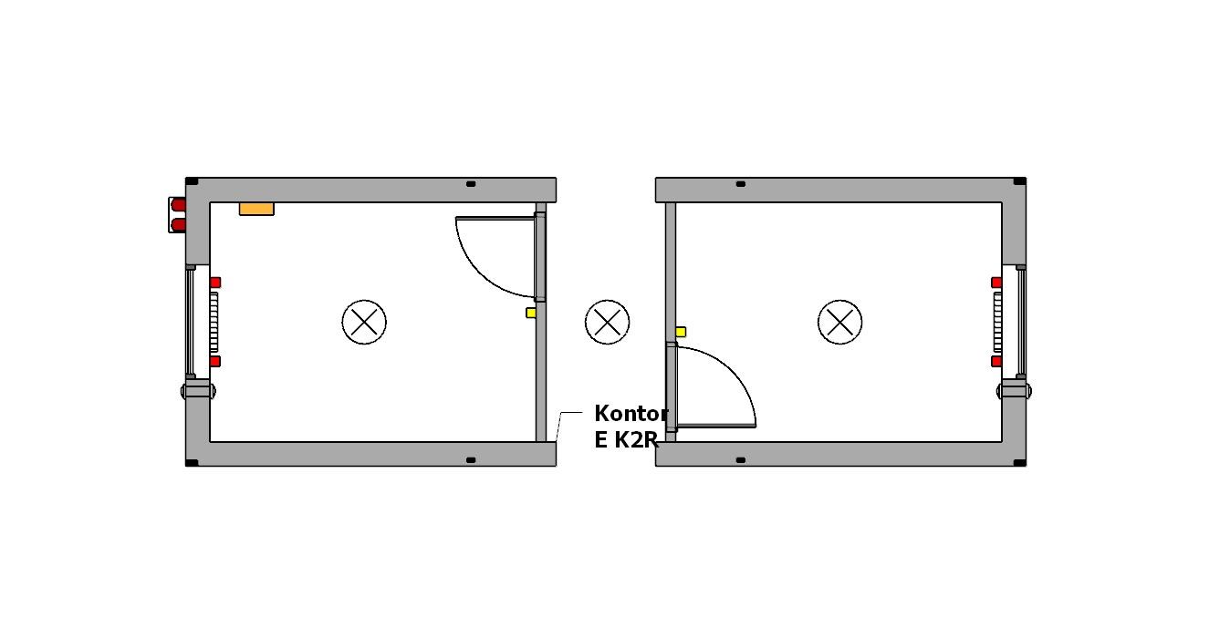 moduł-kontener biurowy dwu-pokojowy