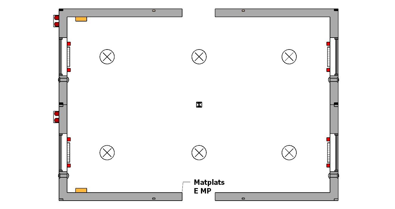 dwa moduły biurowe połączone ze sobą