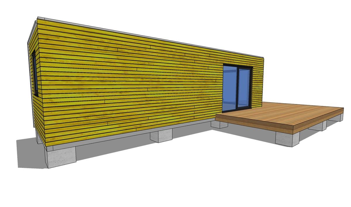 Modular summer house L-shape